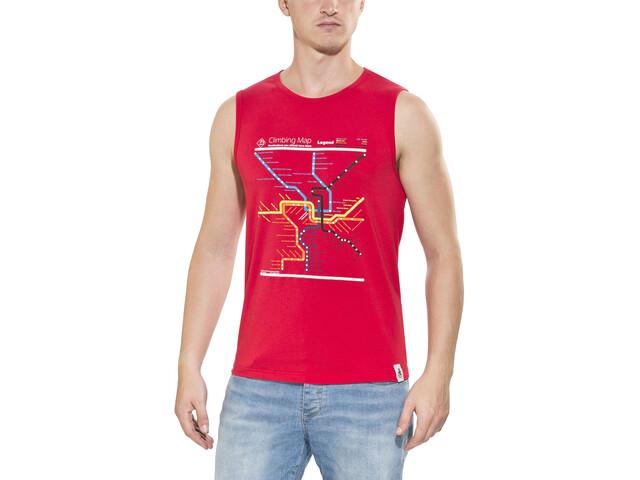 Chillaz Calanques Maps Koszulka bez rękawów Mężczyźni czerwony